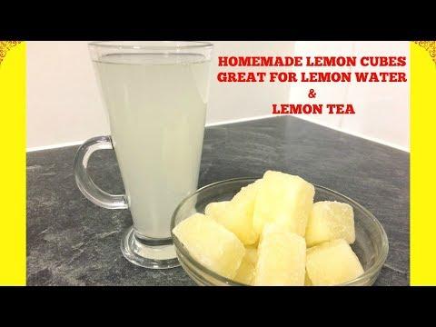 How to Make Lemon Cubes for Lemon Tea   Lemon Water   Benefits of Drinking Lemon Water