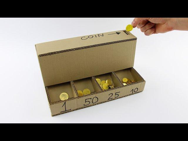 DIY Coin Sorting Machine from Cardboard