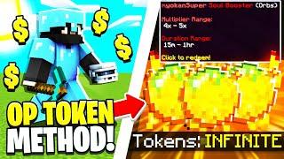 *INSANE* BOOSTER METHOD = UNLIMITED TOKENS! | Minecraft OP Prison | OPLegends