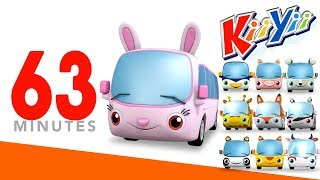 Ten Little Buses | Plus Lots More Nursery Rhymes | 63 Minutes Compilation from KiiYii!