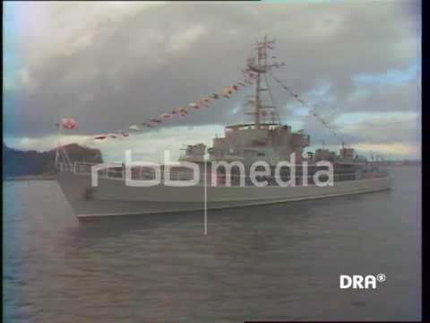 Fleet Review 1989 in Rostock, GDR