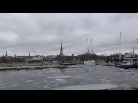 Таллинский порт, пешком, через центр города