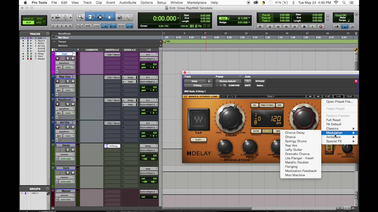 Basic Rap Rb Pro Tools Template Youtube