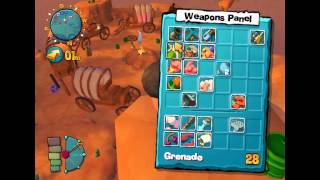 Worms 4 mayhem(PC) gameplay