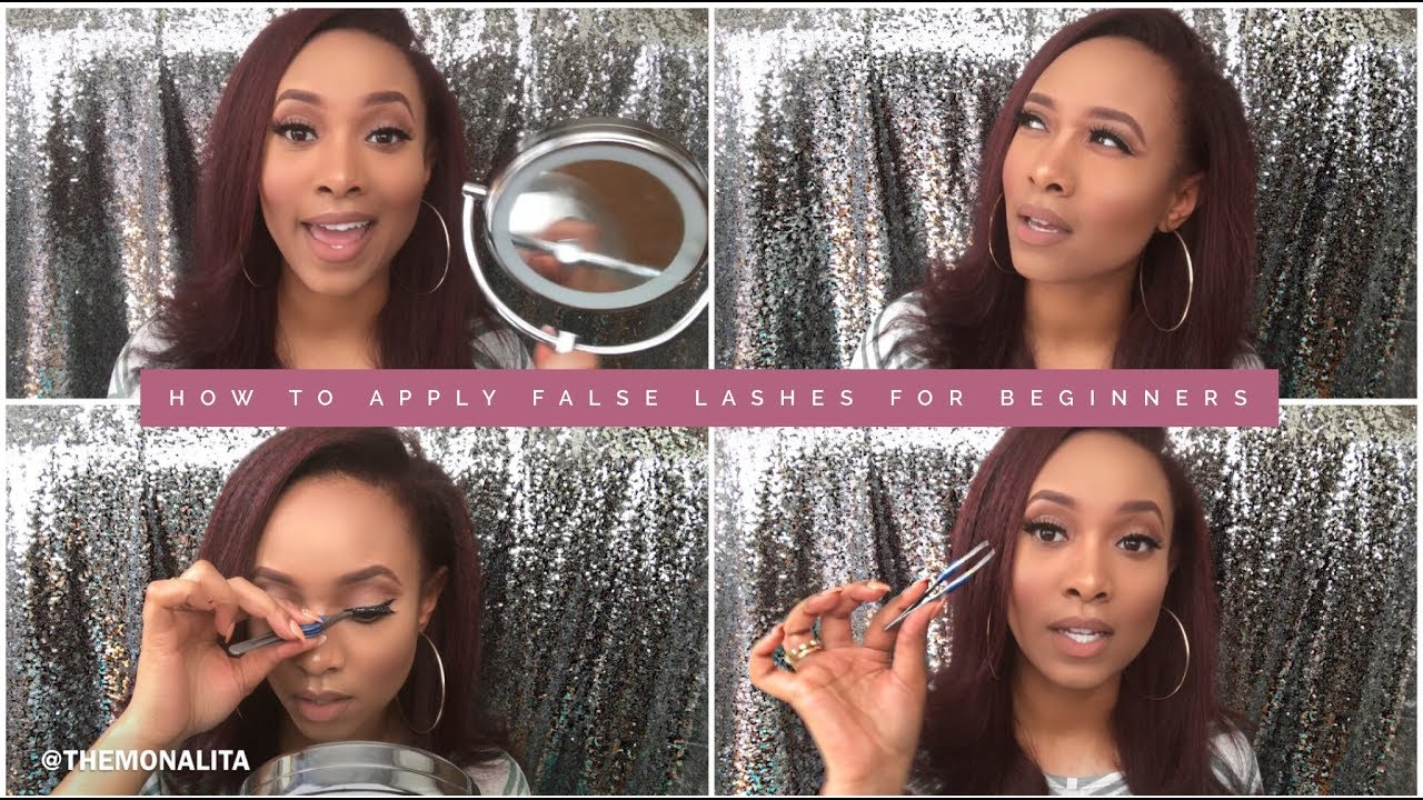 c042caf9e24 How To Apply False Lashes For Beginners - TheMonaLita