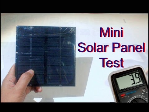 mini solar panel test good for small project youtube. Black Bedroom Furniture Sets. Home Design Ideas