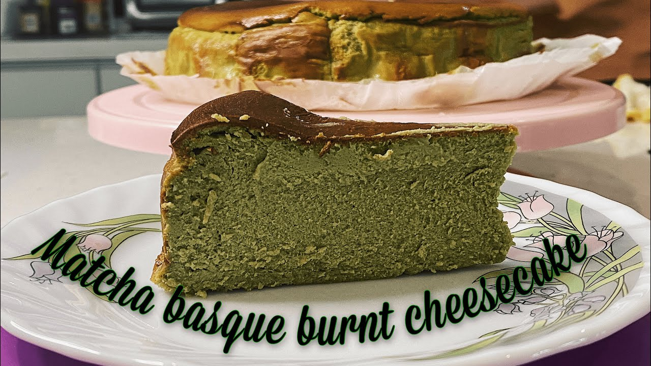 The Best Matcha Basque Burnt Cheesecake Recipe Youtube