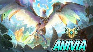 DIVINE PHOENIX ANIVIA MID FULL AP - New Amazing Skin Gameplay | Build & Runes | League of Legends