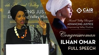 Rep. Ilhan Omar Speech - 4th Annual Valley Banquet 2019 | CAIR-LA