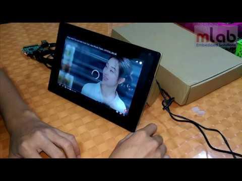 Bóc hộp Màn hình cảm ứng điện dung Waveshare 10.1inch HDMI LCD (B) (with case), 1280×800, IPS
