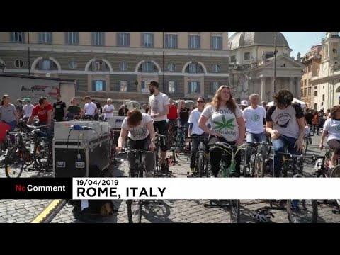 شاهد: الدراجات الهوائية لتوليد الكهرباء أثناء خطاب الناشطة تونبرغ في روما …  - نشر قبل 7 ساعة