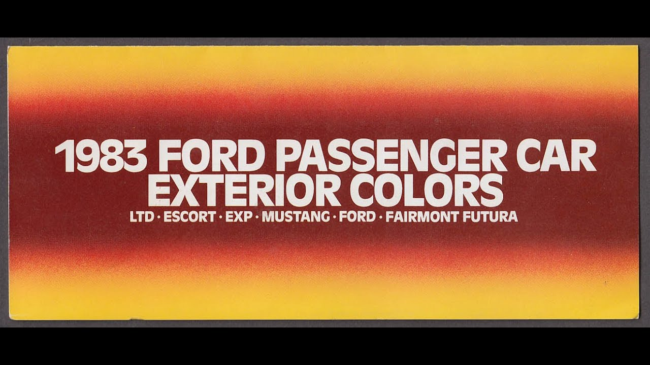 1983 Ford Color Code Book Exp Included Youtube