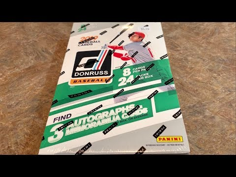 NEW RELEASE!  2019 DONRUSS BASEBALL BOX OPENING!