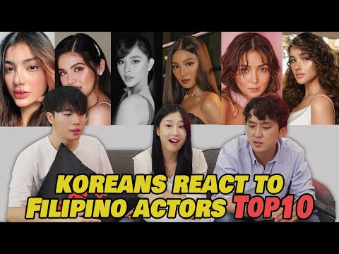 Who's the most BEAUTIFUL in the Philippines? Koreans react to Filipina Celebrities Top10