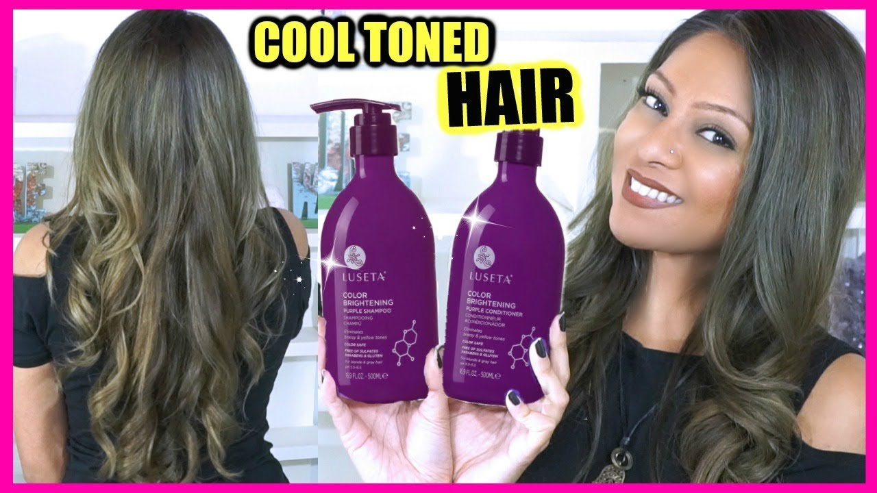 PURPLE SHAMPOO AND CONDITIONER REVIEW! │ HOW I TAKE CARE OF MY DARK GREY  HAIR COLOR!