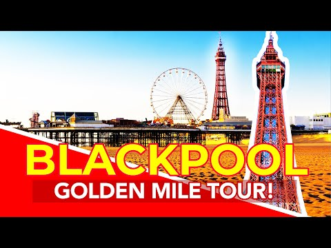 BLACKPOOL WALK | Blackpool Seafront walk from beach and Hote