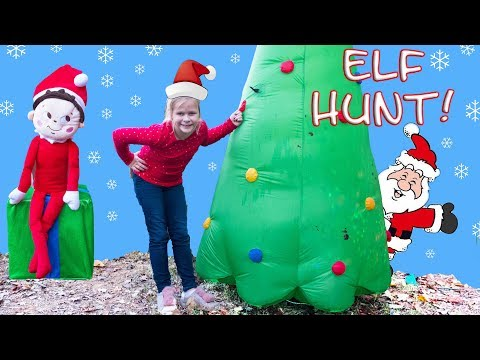 ELF ON THE SHELF Assistant Scavenger Hunt with Coco Miguel + PJMasks Toys
