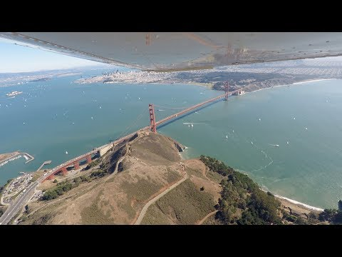 Flying Home from Half Moon Bay - AWESOME San Francisco Bay Area Tour
