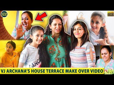 VJ Archana's House Terrace Make Over Video - You Can't Miss It   VJ Archana House Tour   LittleTalks