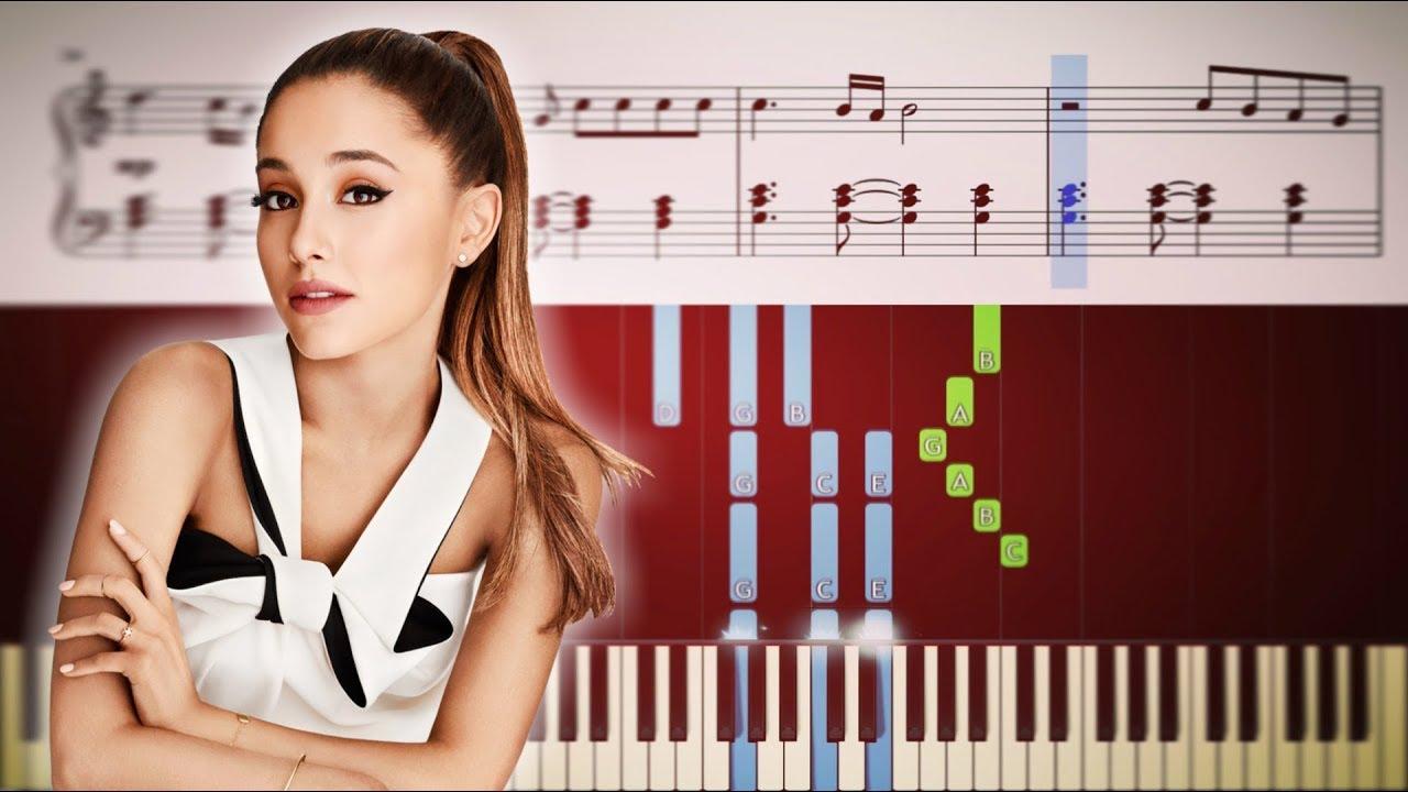 ariana grande santa tell me piano tutorial sheets youtube