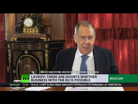 Russian Foreign Minister gives interview to leading Russian media's heads