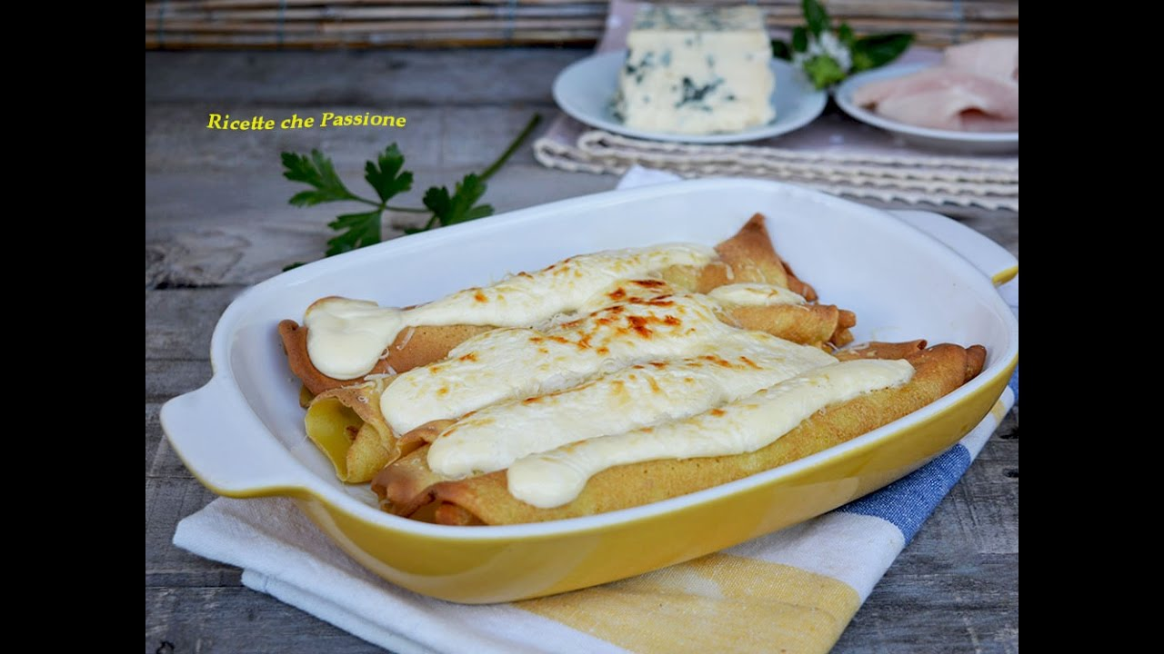 Ricetta delle crepes al prosciutto e formaggio