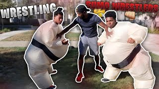 I WRESTLED MY 16 YEAR OLD BROTHER AS A SUMO WRESTLER! *didn't end well*