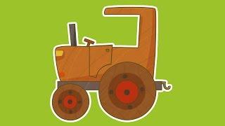 """""""Машинки"""", новый мультсериал для мальчиков - Трактор (10 серия) Развивающий мультфильм"""