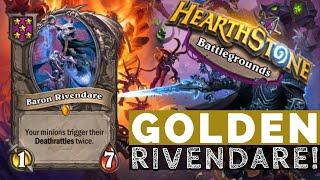GOLDEN RIVENDARE GOES OFF!  Hearthstone Battlegrounds