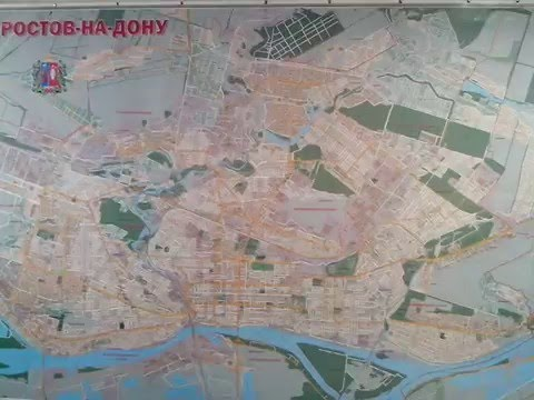 Карта Ростова