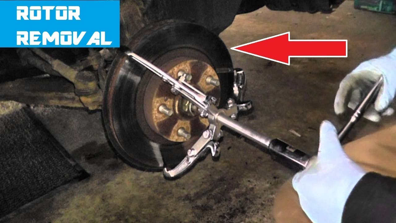 Bearing Puller German : Rotor removal with a puller hd