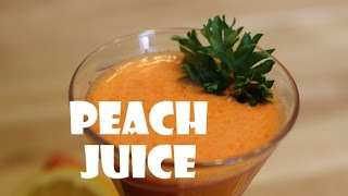 How To Make Minty Peach Juice
