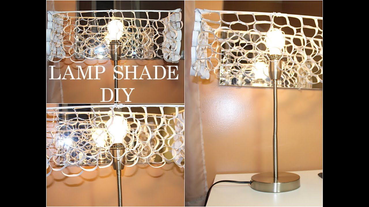 125 lamp shade diy recycled goldenpoise youtube aloadofball Image collections