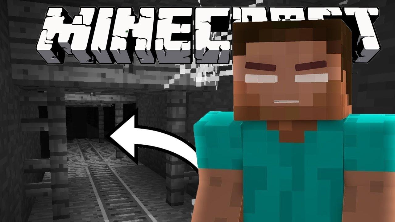 HEROBRINE A ÉTÉ APERÇU DANS UN MINESHAFT EN HARDECORE - Minecraft