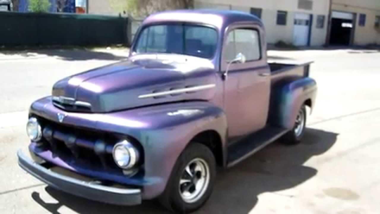 1951 ford f 1 truck custom frame off restored w v8 youtube. Black Bedroom Furniture Sets. Home Design Ideas