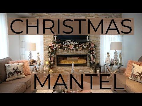 How To Decorate A Mantel For Christmas/ DIY Christmas Mantel