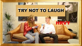 TRY NOT TO LAUGH CHALLENGE WITH HRVY! | Sara Dol