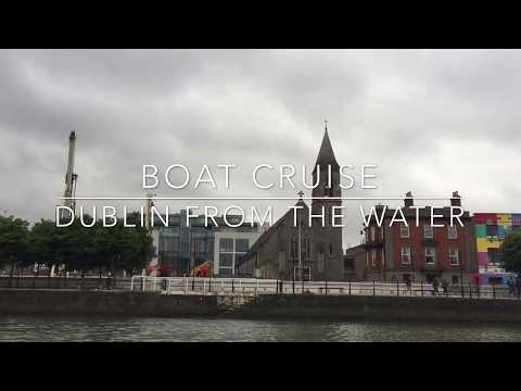 Ireland from the sky. Guest ships. Dublin boat cruise