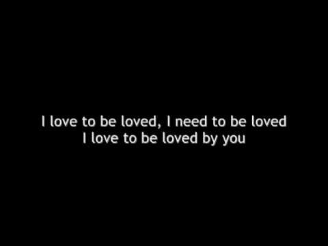 Marc Terenzi Love To Be Loved By You (lyrics)