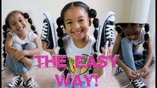 EASIEST Way To Teach Your Kid How To Tie Shoes!!! *6 YEAR OLD …