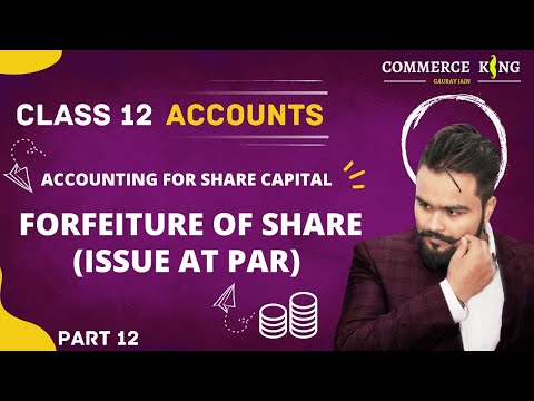 #65, class 12 accounts(Company accounts: Forfeiture of share issued at par)