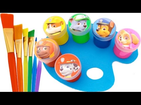Learn Colors Finger Family Songs Paw Patrol Hand Body Paint Play Doh Nursery Rhymes