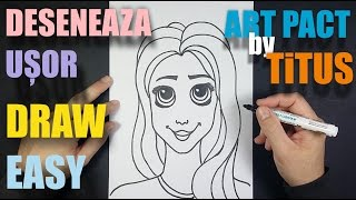 CUM SA DESENEZI O FATA , usor / HOW TO DRAW a girl , easy