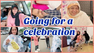 going for a celebration | papa ne kiya ammi ka pachka 😁🙈 | ibrahim family | saba ibrahim