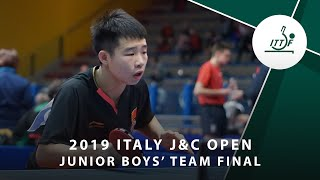 Лев Кацман vs Zeng Beixun | Italy J&C Open 2019 (JBT Final)