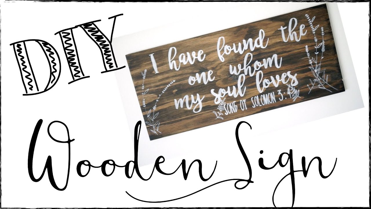 Homemade Wooden Home Decor: DIY WOODEN SIGN! DIY HOME DECOR IDEA!