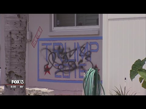 Donald Trump supporter's home vandalized