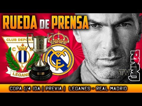 Rueda de prensa previa  al Leganés - Real Madrid