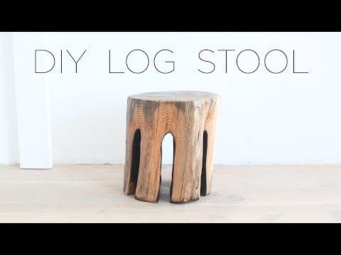 DIY Log Stool