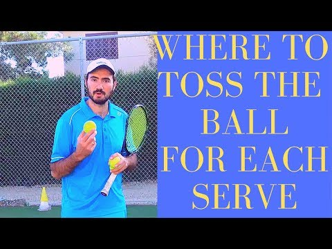 Where to toss the ball for each serve?